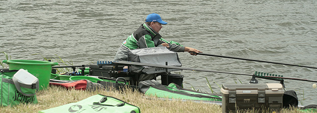 Stephan pottelet concentrates as he amasses 279 'eyeballs' from A24, to take a 2nd in section
