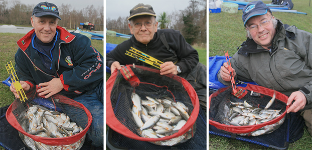 Three happy anglers who all found that their particular floats exceeded expectations.
