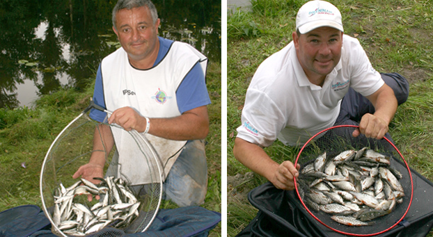 In B section it was clearly visible that bleak against roach was no match. Czech star Luca Pergreffi recorded 152 fish for 2.350kgs while Will Raison caught 156 fish for 3.510kgs!